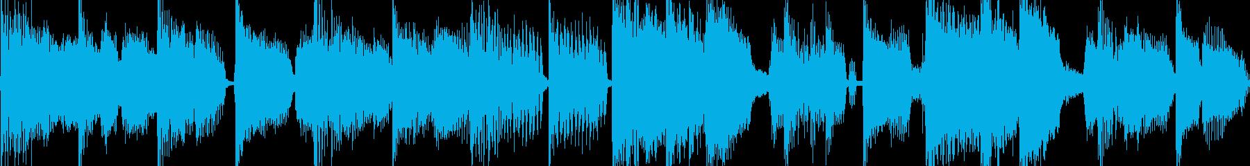 ブルース風の軽快なロックジングル_ループの再生済みの波形