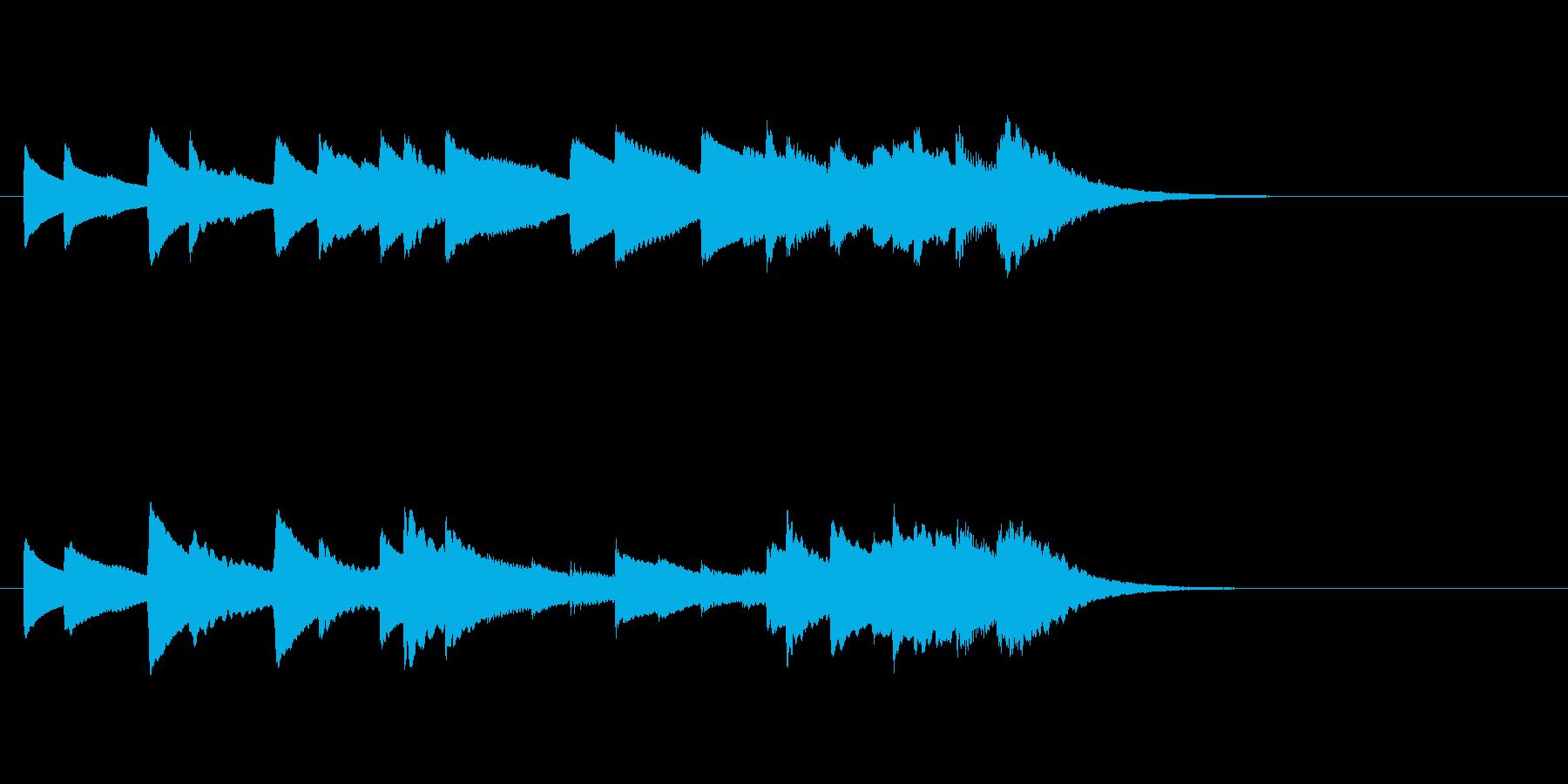 かっこうワルツみたいなオルゴールの再生済みの波形