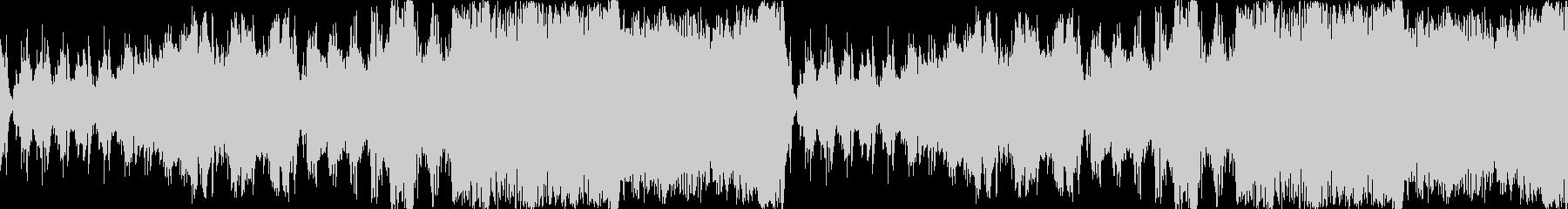 緊迫感あるローテンポオーケストラ、ループの未再生の波形