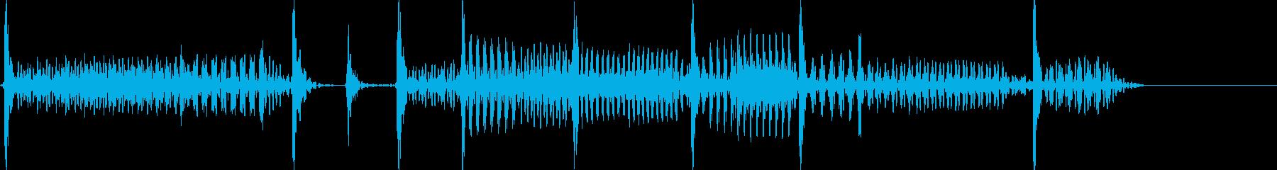 ベースでのスラップです。の再生済みの波形