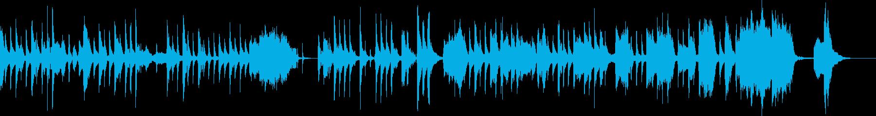 のんびりでちょっととぼけた日常シーンの曲の再生済みの波形