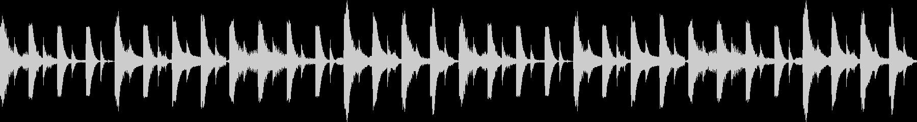 四つ打ちとエレピのおしゃれサウンドの未再生の波形