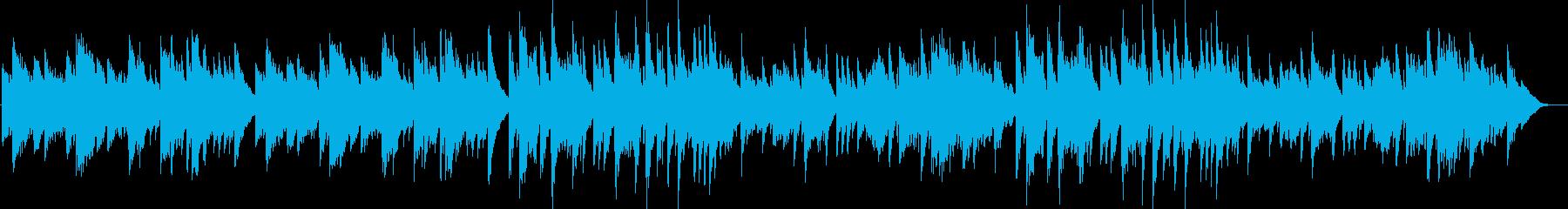 優しさと温かさを感じるスローピアノ曲の再生済みの波形