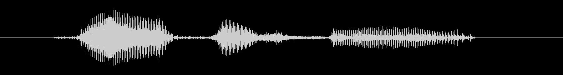 候補生【柔】の未再生の波形