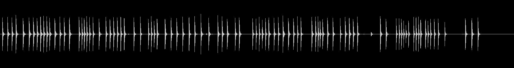 大きなボルトでのハンマーの未再生の波形