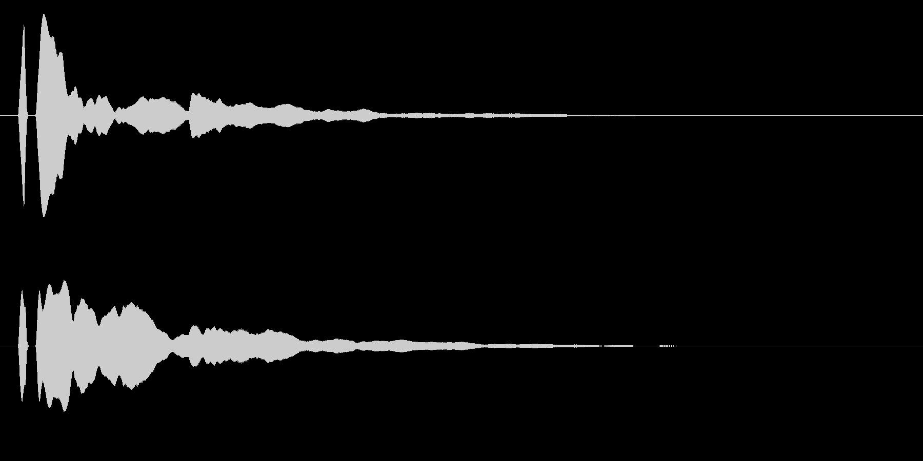 ピーン!シンプルな決定/ボタン/クリックの未再生の波形