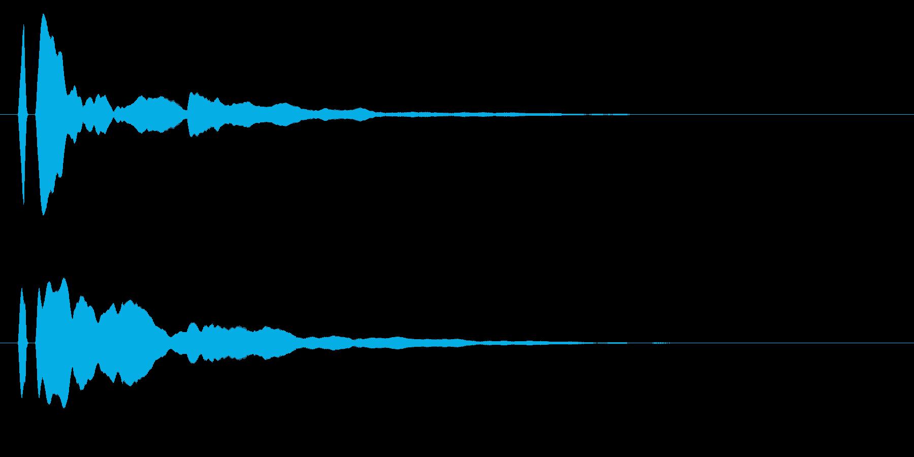 ピーン!シンプルな決定/ボタン/クリックの再生済みの波形