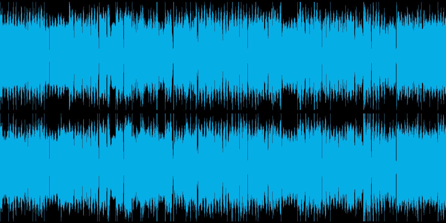 オルガンの三拍子BGM(ループ)の再生済みの波形