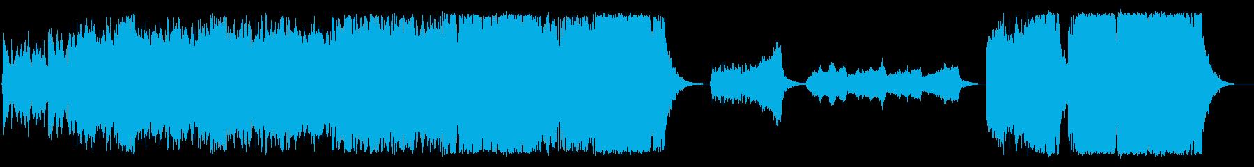 シネマティックなFPSゲームトレイラーの再生済みの波形