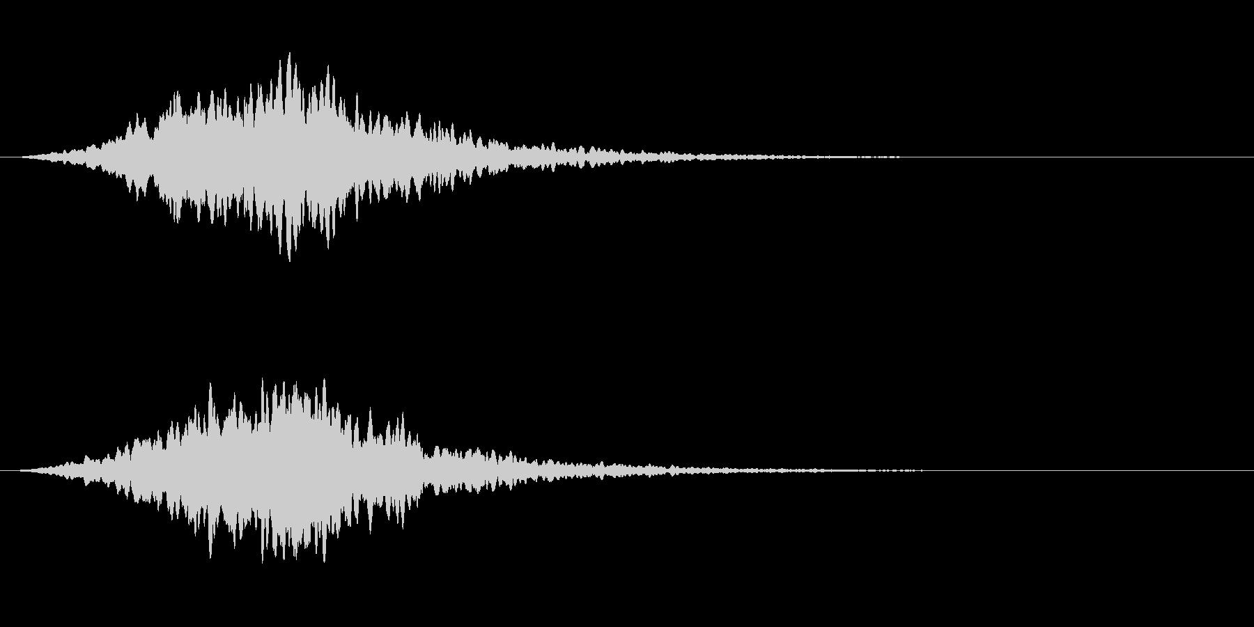 スタブ高周波電子ホーンスタブの未再生の波形