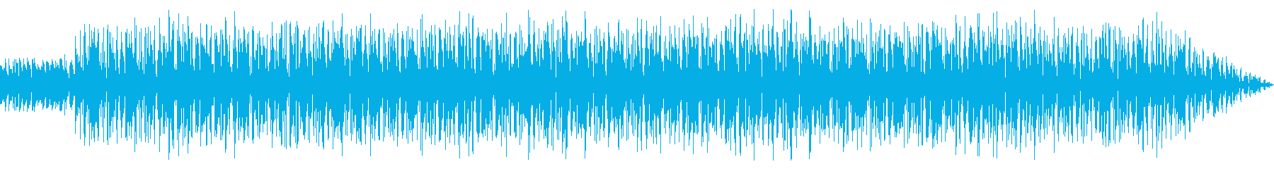 Simple techno sound's reproduced waveform