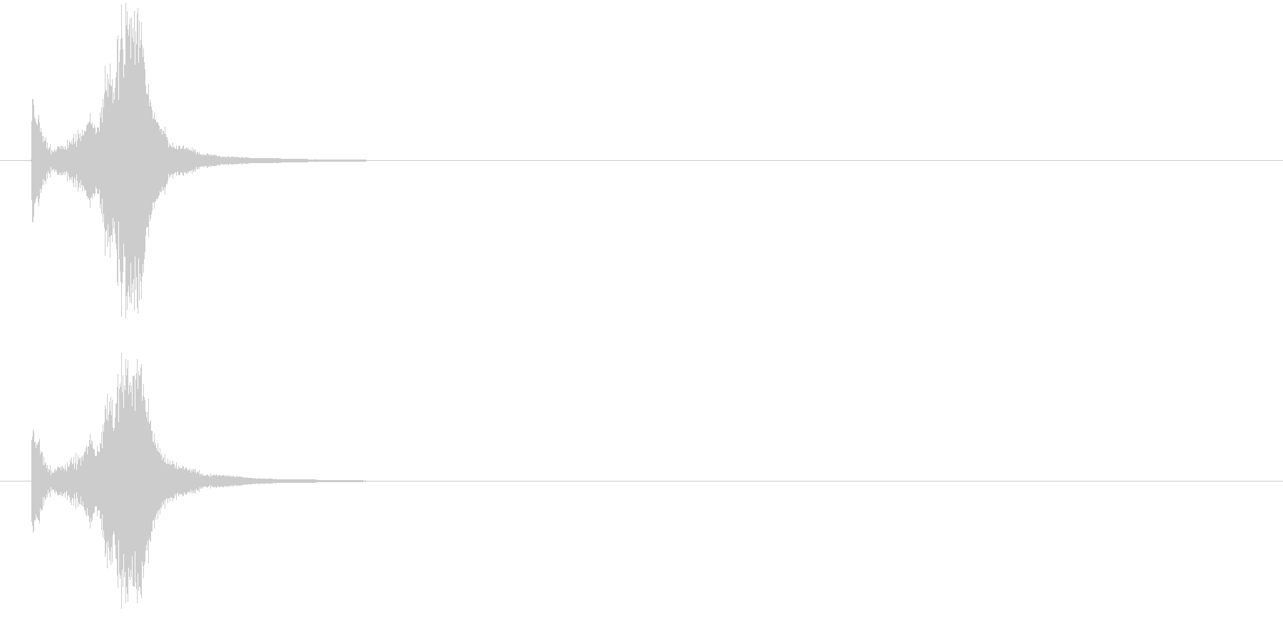 """【武器:""""シャキン""""】小刀を出す・取る2の未再生の波形"""