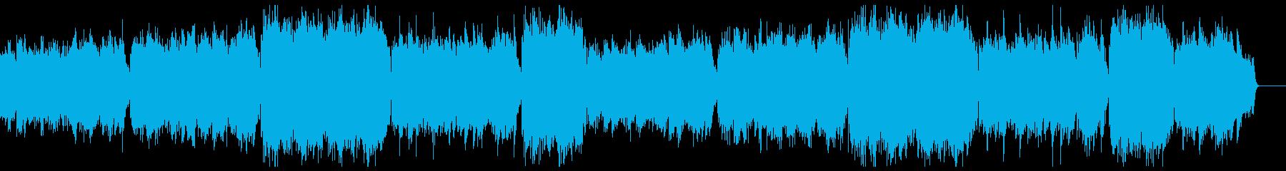 穏やかで暖かいピアノアルペジオ:フルx2の再生済みの波形
