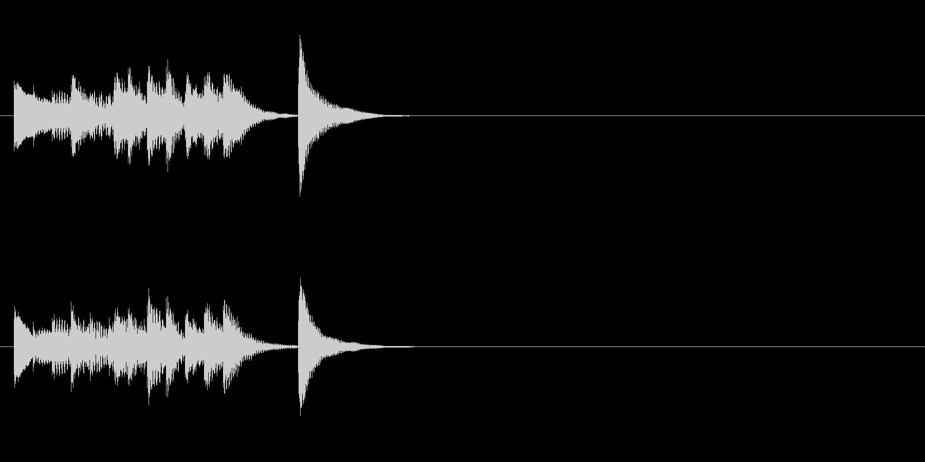 木琴のシンプルなジングル4の未再生の波形