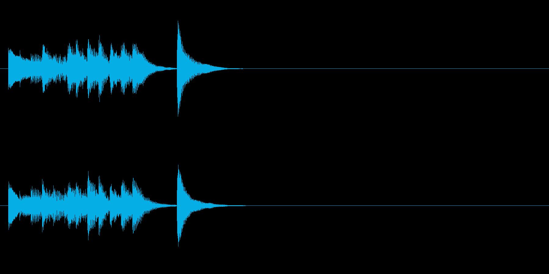 木琴のシンプルなジングル4の再生済みの波形