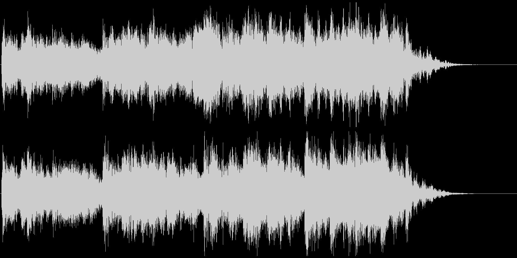 決意を秘めた感じの和楽器メロディジングルの未再生の波形