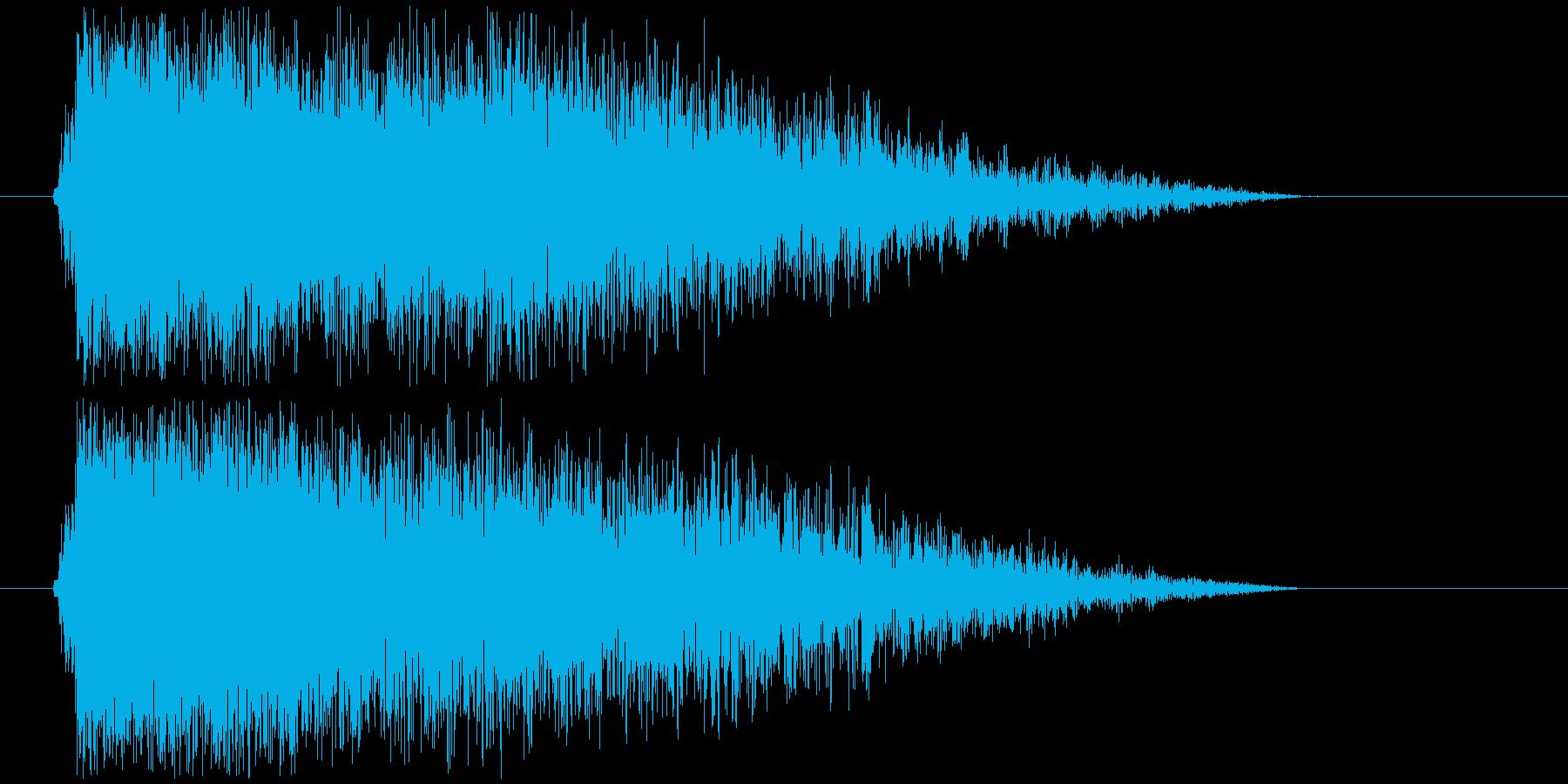 雷鳴の再生済みの波形