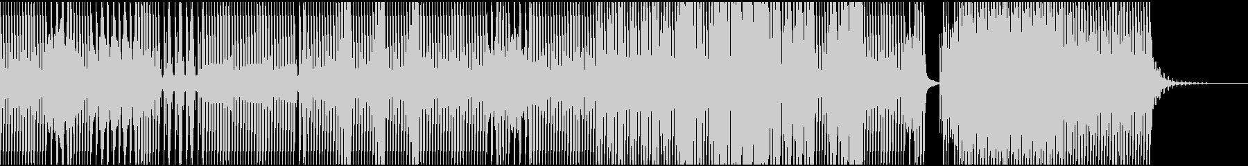 落ち着いたアンビエントテクノEDMの未再生の波形