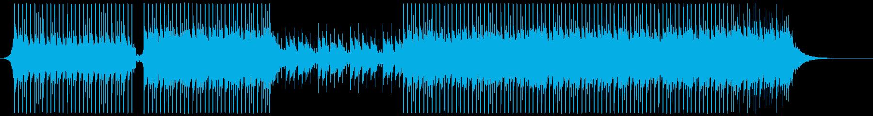 ピアノ、ドラムを使った、の再生済みの波形
