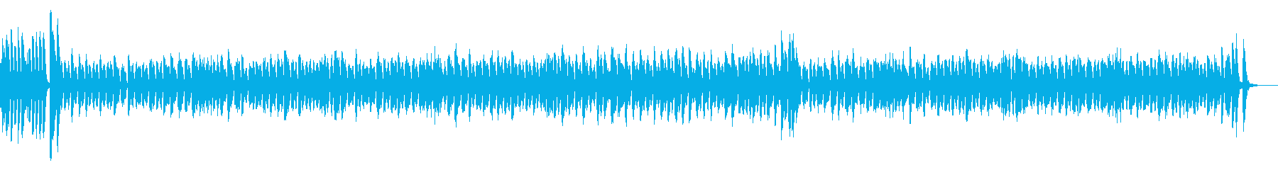 サーカスのような楽しく可愛い雰囲気の曲の再生済みの波形