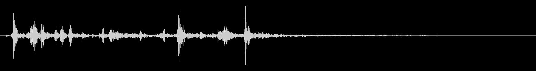 【生録音】かじる音 噛む カリッ 再現音の未再生の波形
