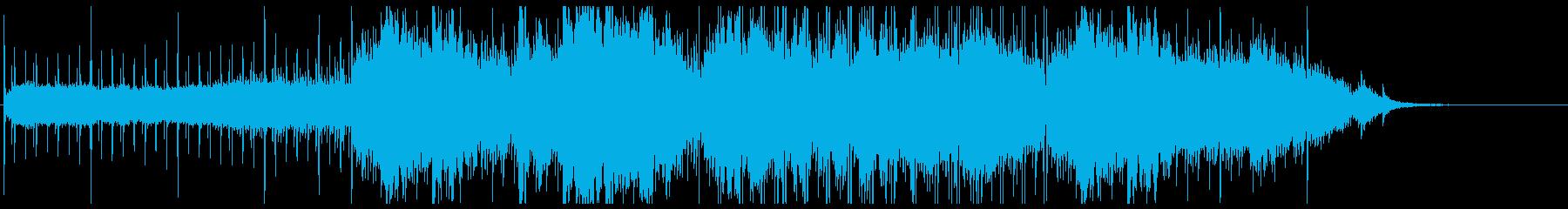 幻想的な物語の始まりのスローチルアウトの再生済みの波形