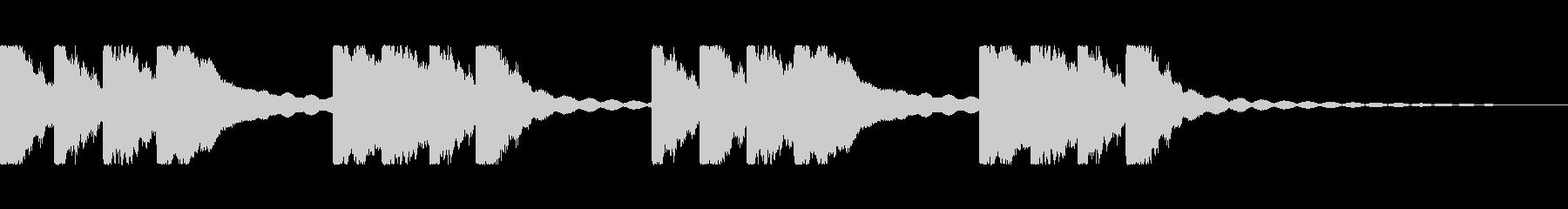キーンコーンカーンコーン(学校チャイム)の未再生の波形