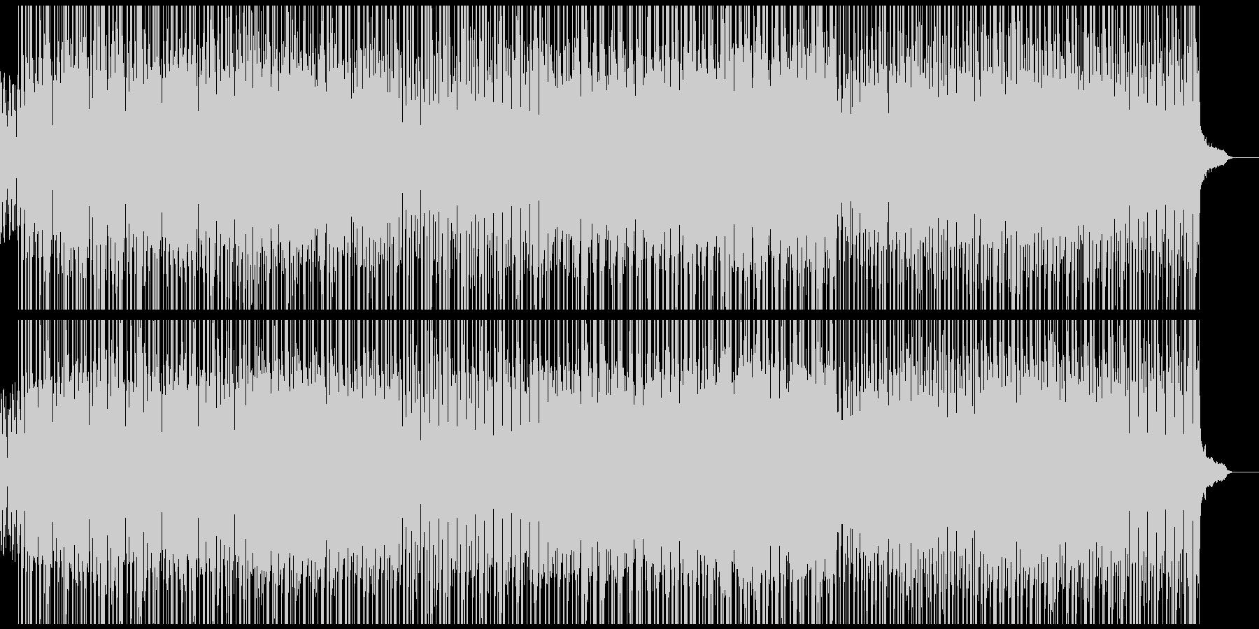 明るく軽快なポップスの未再生の波形