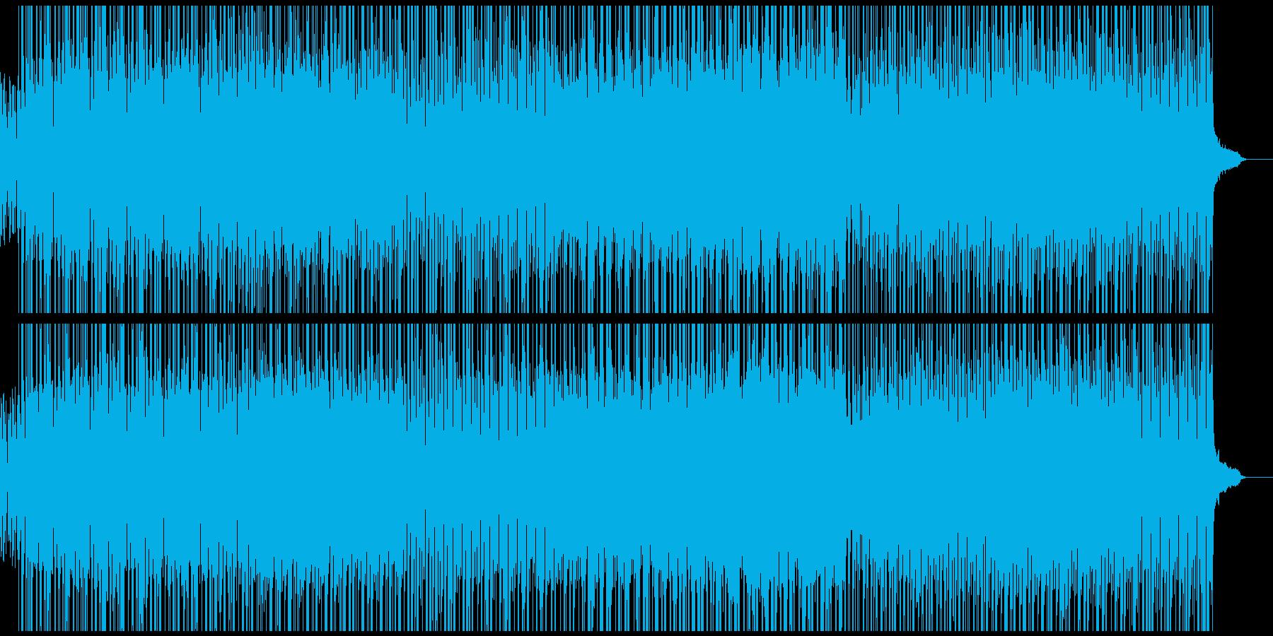 明るく軽快なポップスの再生済みの波形