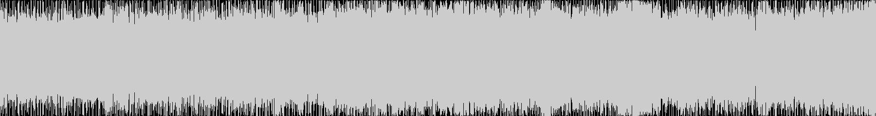 RPG戦闘曲風の激しいロック(ループ)の未再生の波形