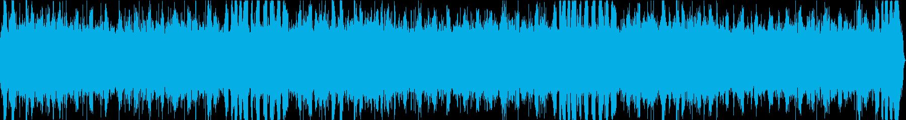 高原の湿原での環境音サンプリングの再生済みの波形