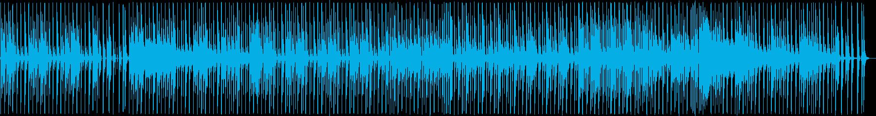 疾走感シンセサイザーなどテクノポップの再生済みの波形