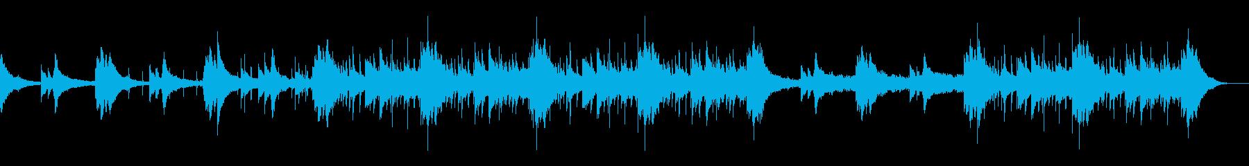 少しジャズでブルージーなBGMの再生済みの波形