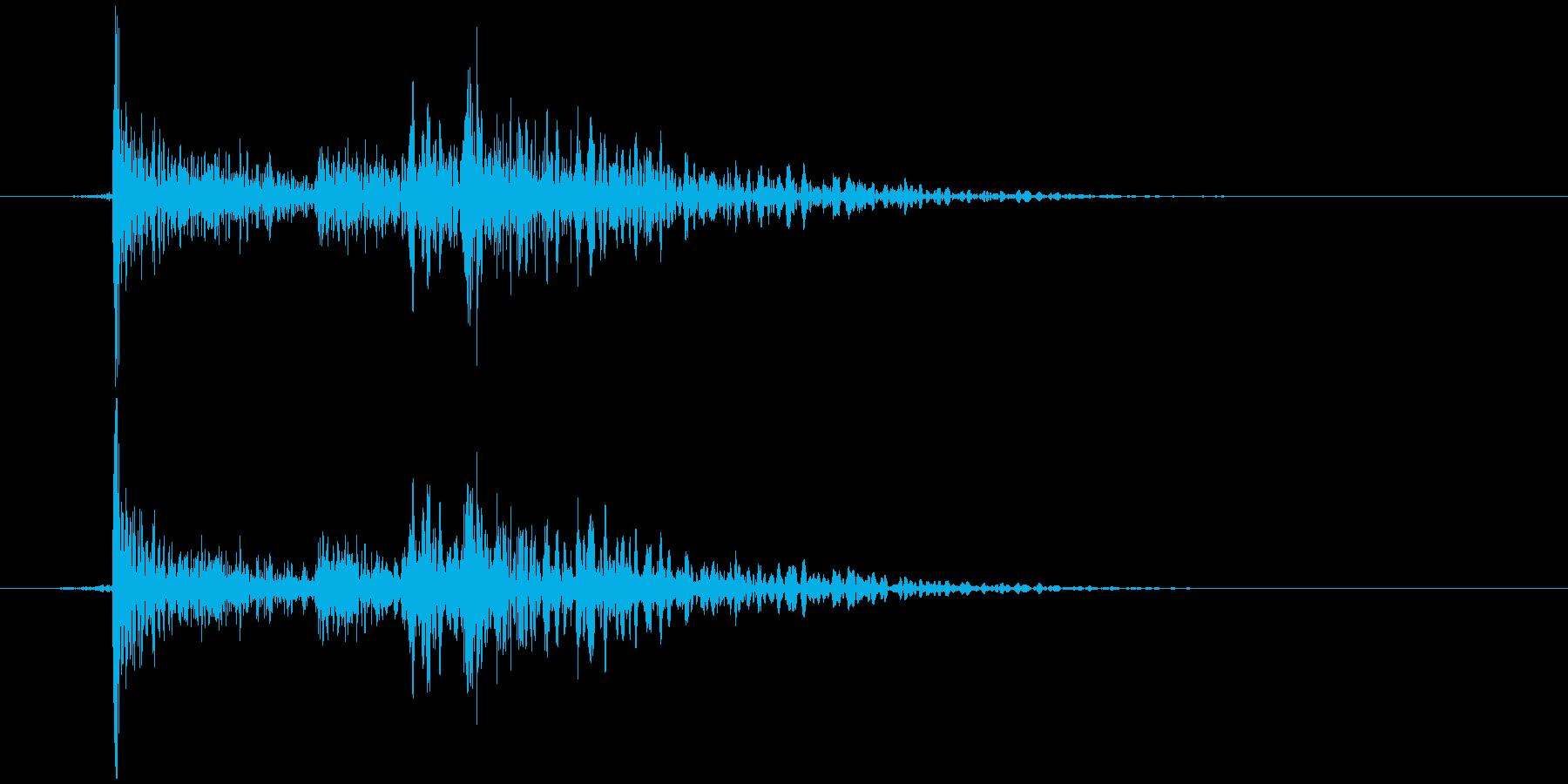 電子レンジ 閉める バタンの再生済みの波形