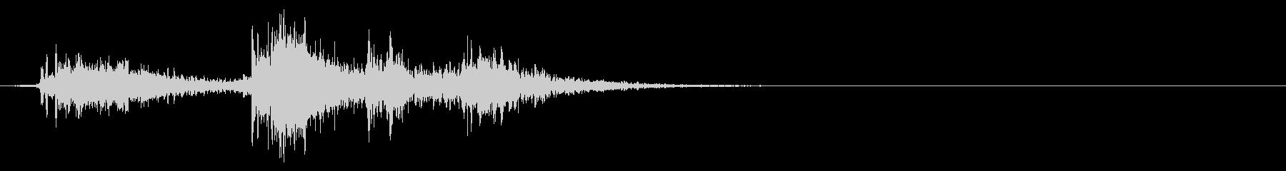 革椅子に座る音・軋む音7リバーブの未再生の波形