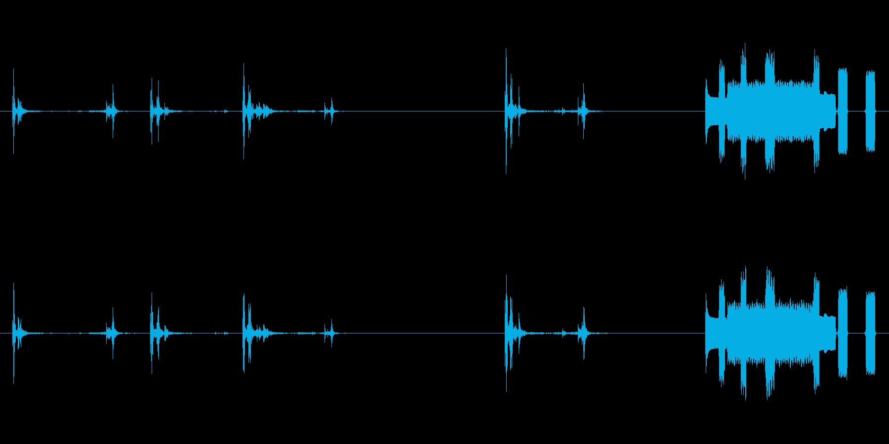 コンピューターのキーボードストロー...の再生済みの波形