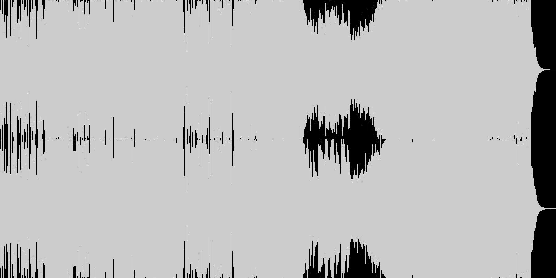 アップリフティング系ボーカルトランスの未再生の波形