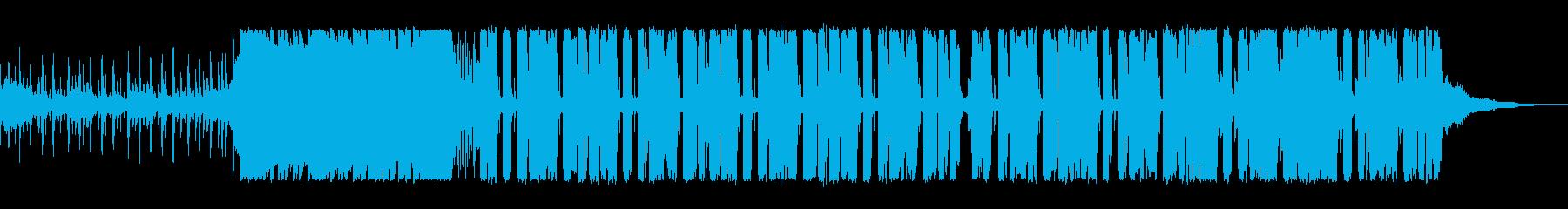 マイルドで緩やかなテクノポップの再生済みの波形