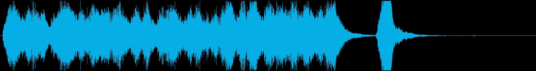 オーケストラの明るくコミカルなジングルの再生済みの波形