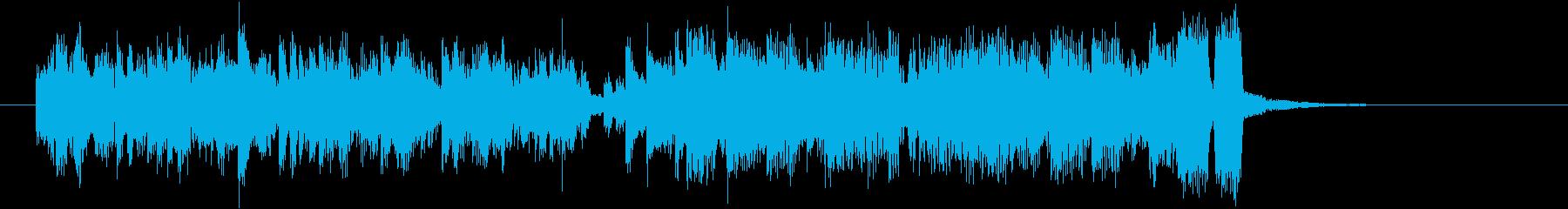 アップテンポなシンセサイザー音楽の再生済みの波形