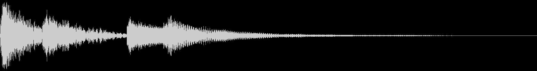 木琴(お知らせ・通知音)の未再生の波形