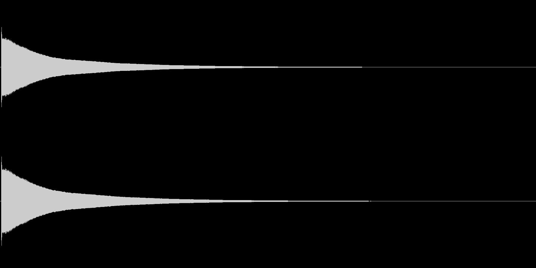 チーン(電子音)2の未再生の波形