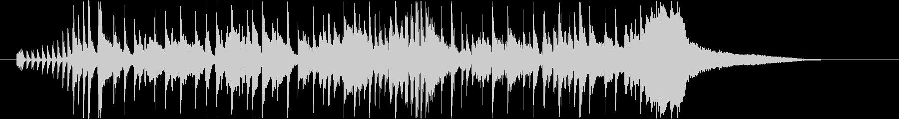 ジャズファンク風ジングル・サウンドロゴの未再生の波形