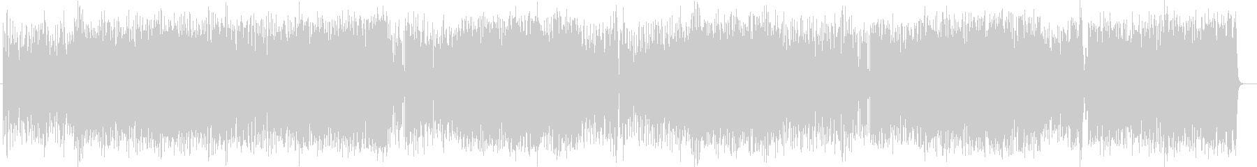 明るく元気な管楽器メインのポップスの未再生の波形