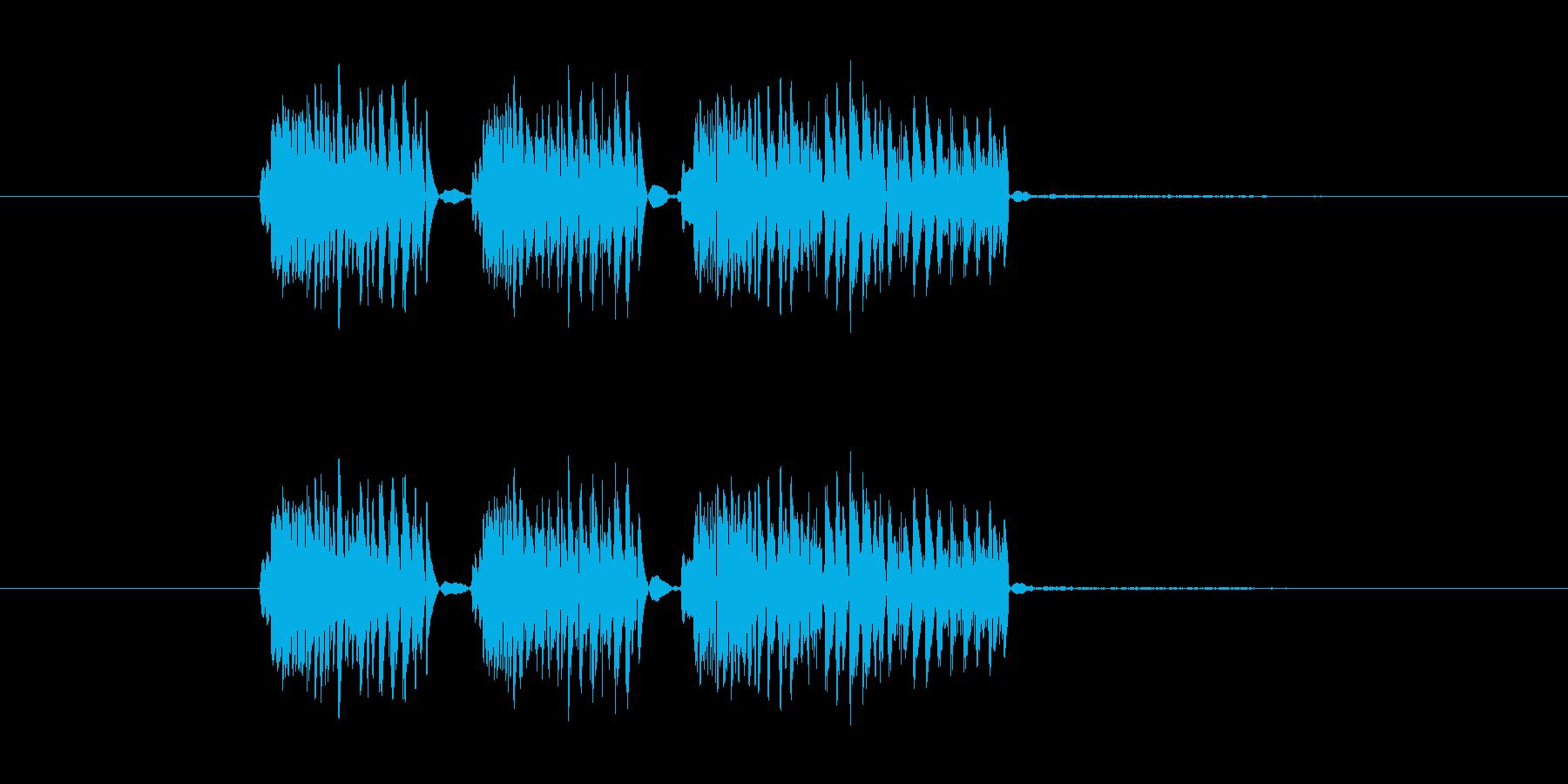 パンチ効果音 ダダダ ドドド 3連打の再生済みの波形