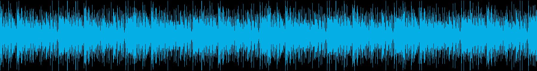 アップテンポな優しいボサノバ(ループ)aの再生済みの波形