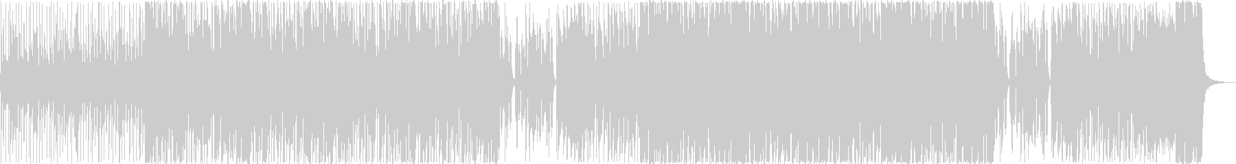 アップライトベースで始まるファンクの未再生の波形