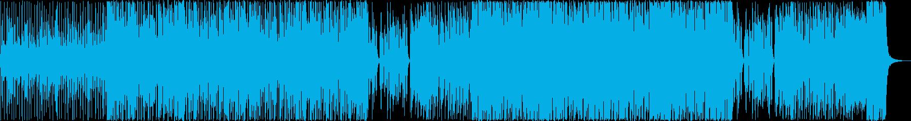 アップライトベースで始まるファンクの再生済みの波形