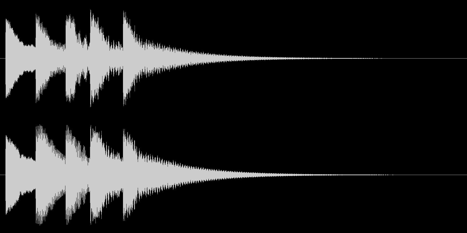 ティトンテントンティーン(物悲しい)の未再生の波形