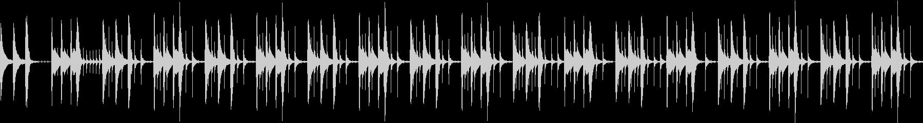 DIY早送り映像イメージした鉄琴ポップスの未再生の波形